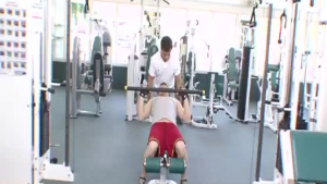 Adorable Asian cheerleader is fucking her tennis coach in the gym, during a casual workout