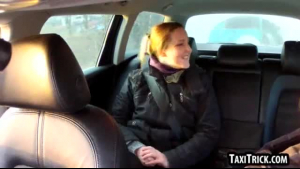 Hot amateur, Katrin Koite is getting fucked by a stranger in the taxi, in a public place