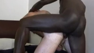 Sensual twink drilled from behind while tied up