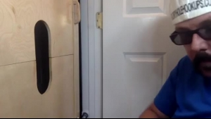 Sexy gay mom sucking a gloryhole dick
