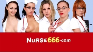 Naughty nurse is tied up and comforted by the black one
